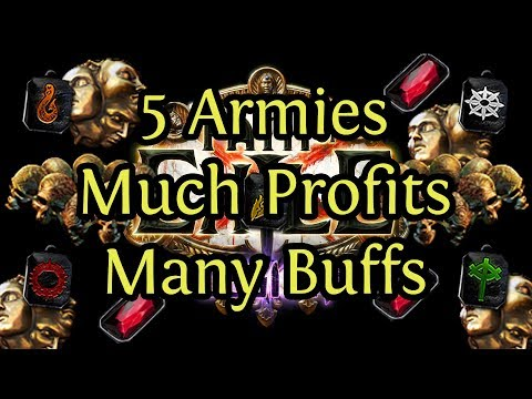 5 Army Fight, Much Profit, Many Buffs ! epilepsy warning !