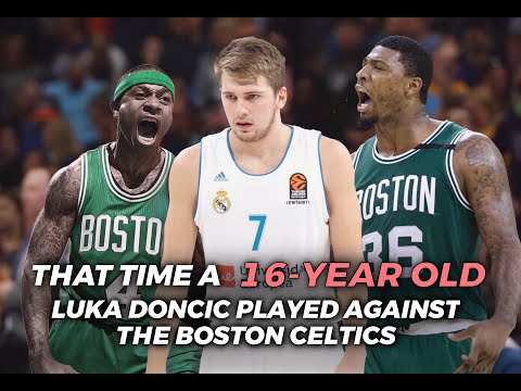 That Time A 16-YEAR-OLD Luka Doncic Played Against The Boston Celtics