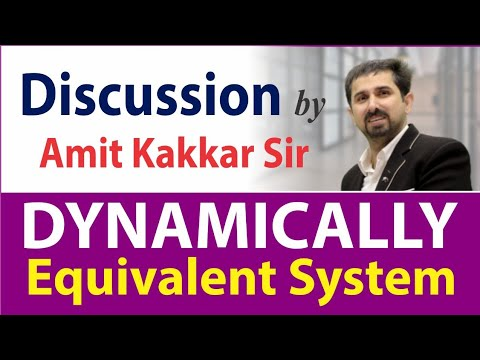 Dynamically Equivalent System | Discussion by Amit Kakkar Sir | MADE EASY Faculty