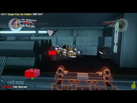 Lego Star Wars The Force Awakens: 2 / Escape From the Finalizer FREE PLAY(All Minikit & Red Brk)-HTG