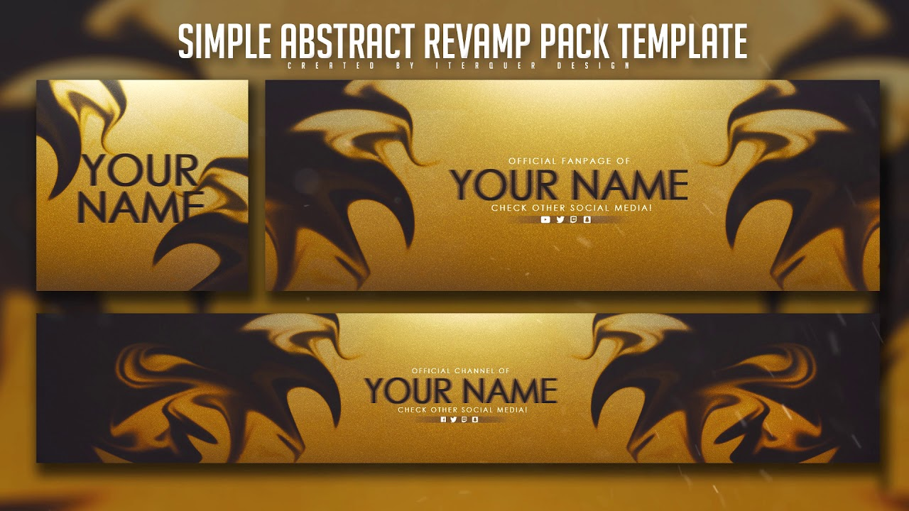 Free Simple Abstract Revamp Pack Template Youtube Banner