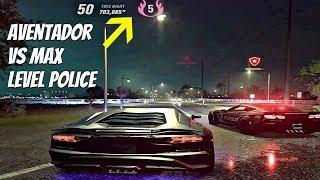 Need For Speed HEAT - Lamborghini Aventador vs MAX Level Police Chase (HEAT Level 5) NFS 2019