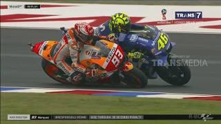 INSIDEN ROSSI DENGAN MARQUEZ (MotoGP Argentina 2018)