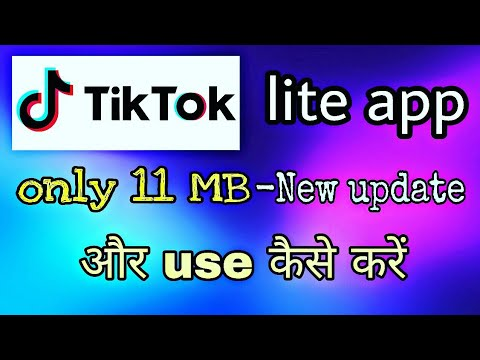 tik tok lite app 11 MB New update कैसे use करें  Hindi tach tips