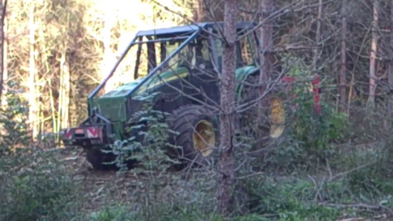 tracteur forestier poste inverse