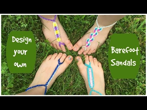 Design Your Own Rainbow Loom Barefoot Sandals