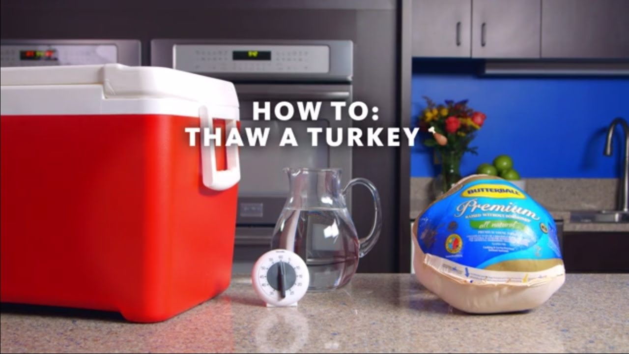 How To Safely Thaw A Frozen Turkey Youtube