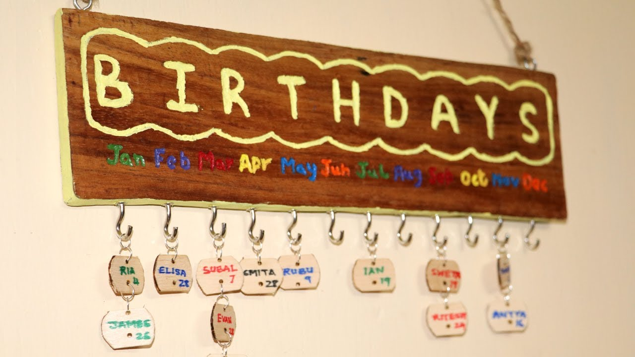 diy family birthday board wood carving dremel projects little