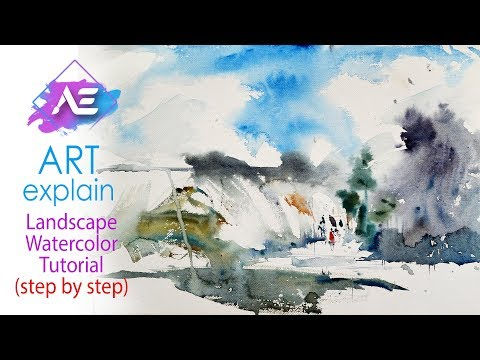 Transparent Watercolor Painting Tutorial | How to paint a watercolor landscape | Art Explain