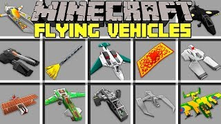 Minecraft FLYING VEHICLES MOD l CRAFT INSTANT FLYING CARS AND ITEMS! l Modded Mini-Game