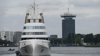 Superyacht A in Amsterdam, The Netherlands