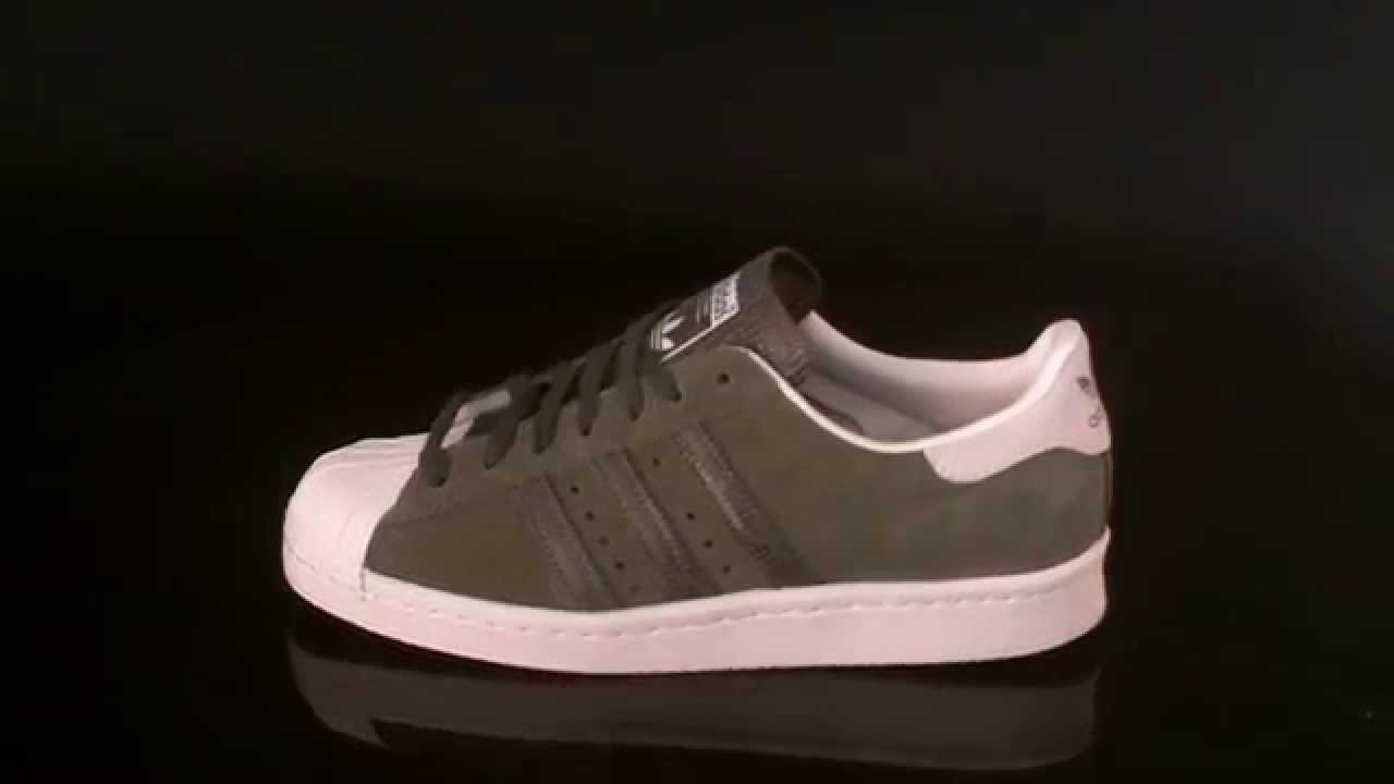 55536163dfc2cd Adidas Superstar 80s W Sneaker Olive Cargo Off White S81324