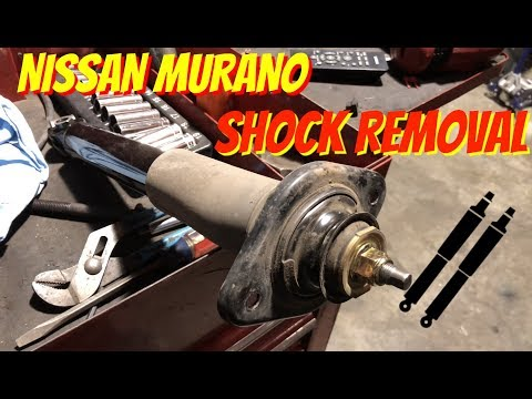 How To Install-Replace Remove Rear Shocks-Struts Nissan Murano