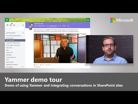 Updates To Yammer: Integrating Conversations Into Your SharePoint Experiences