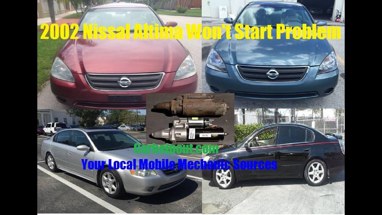 Mobile Mechanic Tips 27 2002 Nissan Altima Will Not Start Starter Rh  Youtube Com 2002 Nissan Maxima Gle Problems 2002 Nissan Maxima Idle Problems