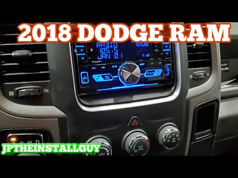2018 Dodge Ram Radio Removal And Kenwood Double Din Cd Player Install