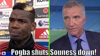 Paul Pogba makes Graeme Souness shut his mouth!