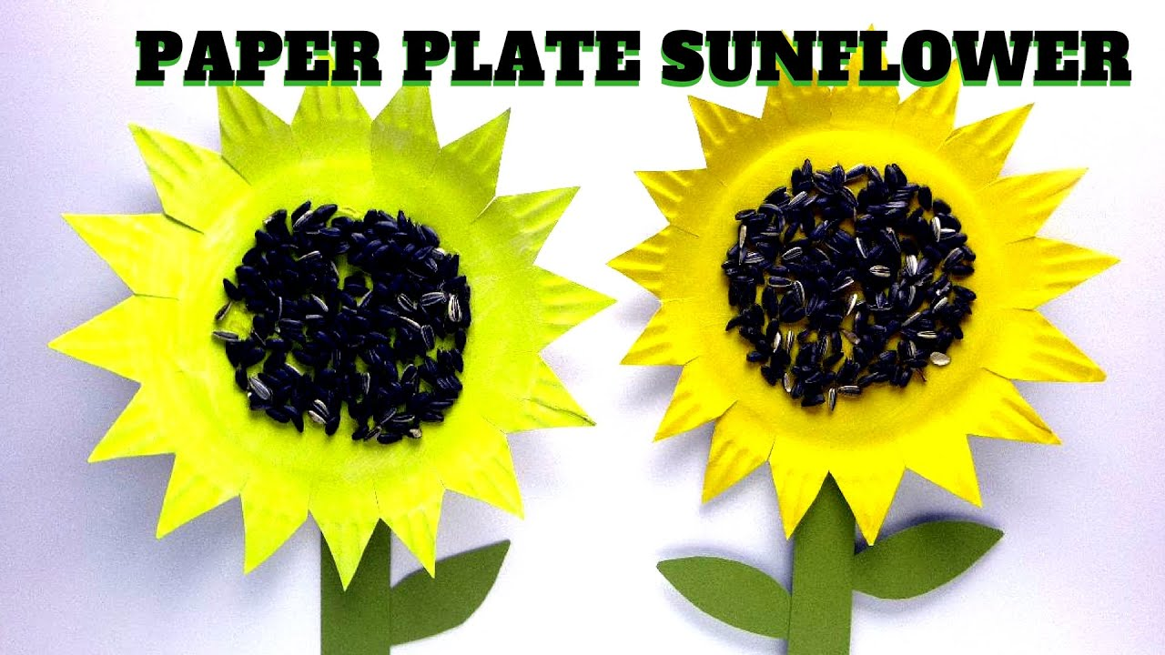 How To Make A Paper Plate Sunflower Mothers Day Craft Youtube