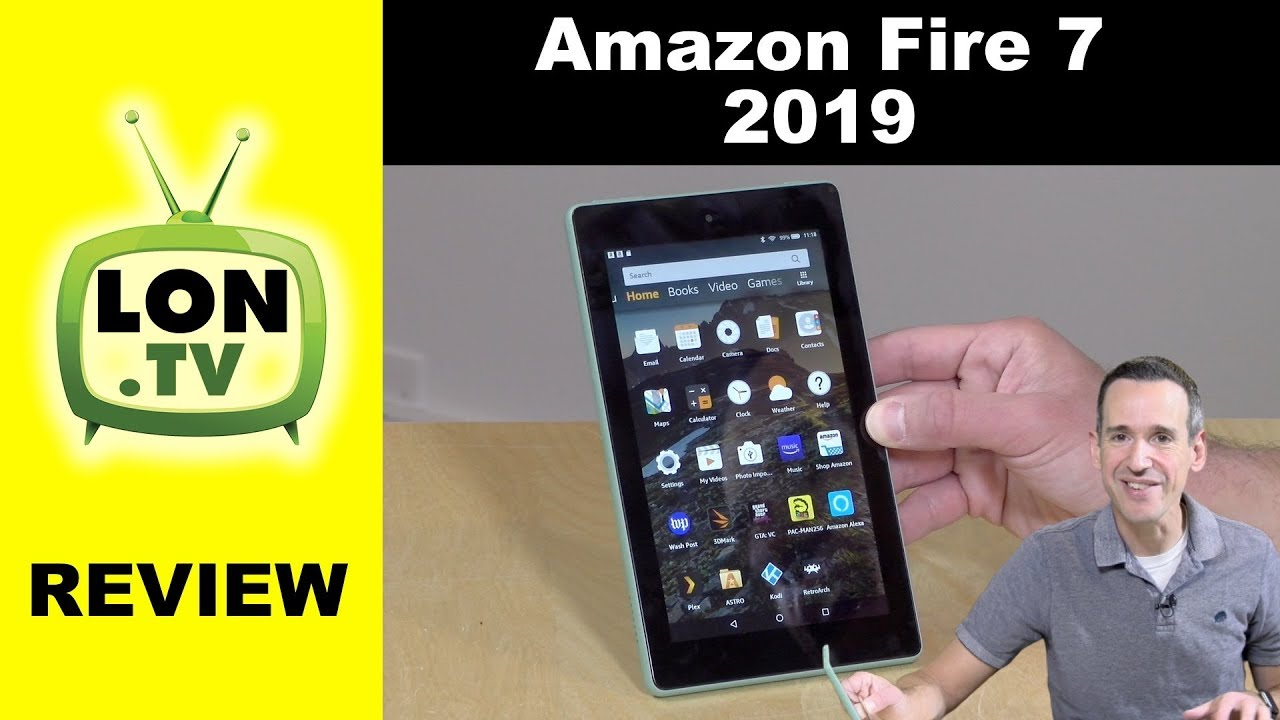 Amazon Fire 7 Tablet Review - 2019 Version - Lowest Cost Amazon Tablet! - YouTube