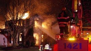 03.08.13 - WORKING HOUSE FIRE; BETHLEHEM TWP., PA.