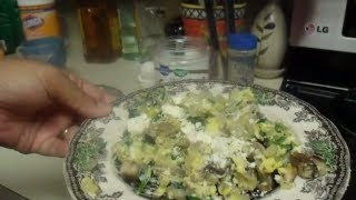 Loosingit2gether Breakfast Recipe; Healthy Eggs With Mushrooms, Spinach And Feta Cheese
