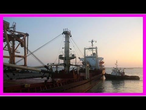 News-first aid ship in Yemen Presstv hudaydah port