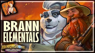 BRANN BELONGS WITH ELEMENTALS?! - Hearthstone Battlegrounds