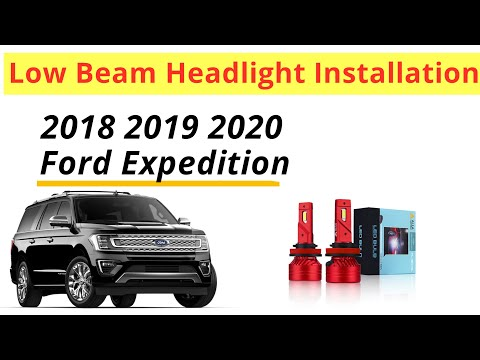 Install 2018 2019 2020 Ford Expedition Low Beam LED Headlight Bulbs