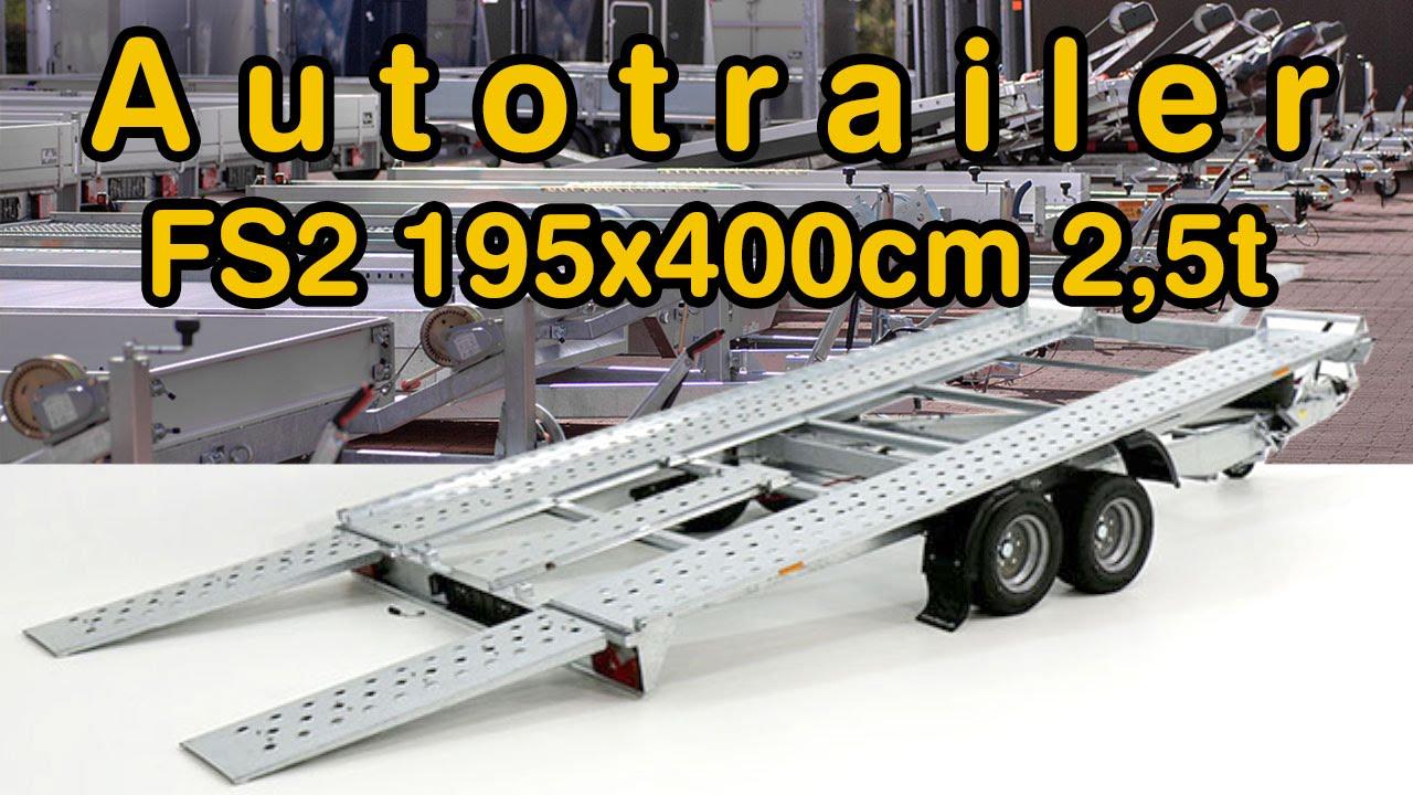 Autotrailer - FS2 195x400cm 2,5t kippbar bei KOCH PKW Anhänger ...