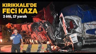 Kırıkkale Trafik Kazası: 2 Ölü, 4'ü Çocuk, 3'ü  Ağır 17 Yaralı