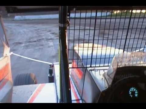 Dirt Modified INCAR video, Rolling Wheels raceway