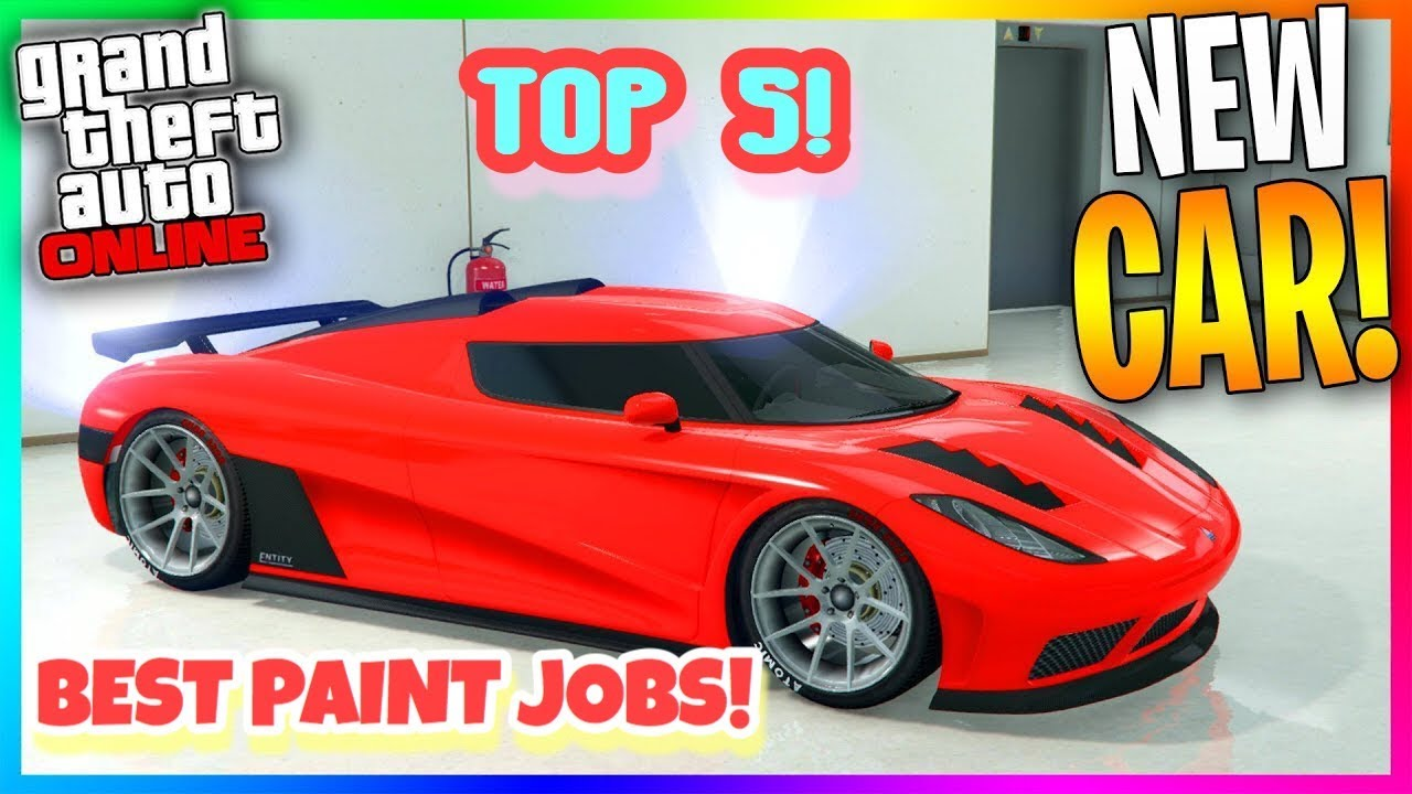 top 5 awesome paint jobs for the new entity xxr koenigsegg gta