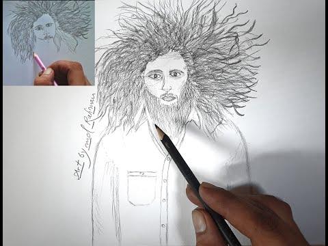 curly hairstyle boy drawing, घुंघराले बाल वाले लडके की ड्राइंग, How to draw karli hair digitally,