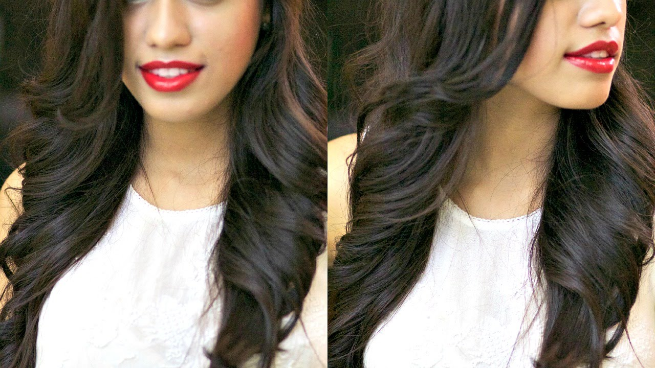 how to style hair with hair dryer outwards waves with straightener and curling iron 5443