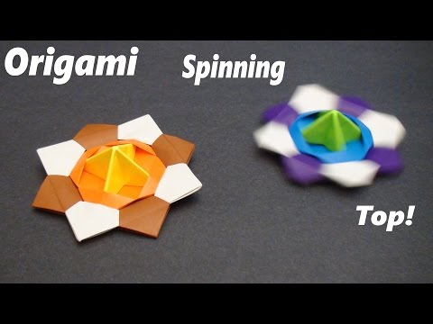 How to make a Paper Spinning Top (Modular Action Origami) - SunderOrigami!
