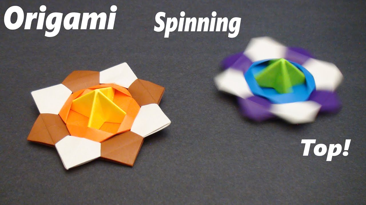 How To Make A Paper Spinning Top Modular Action Origami