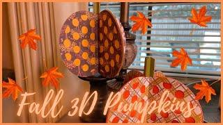 Easy Fall 3D Pumpkin Diy   Pumpkin Diy Projects