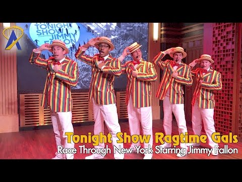 Ragtime Gals sing and lip sync battle at Universal's Race Through New York Starring Jimmy Fallon