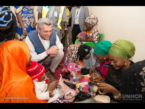 Nigeria: UNHCR Chief Visits Displaced in Maiduguri