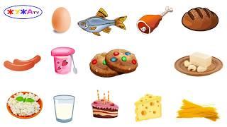 Продукты питания  Картинки для детей  Развивающий мультик