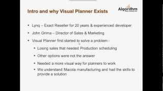 Visual Planner Production Order Processing (POP) Webinar