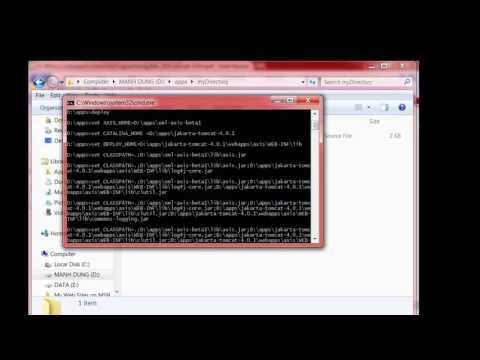 [Apache Axis] Installation on Windows