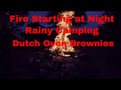 Cedar Mtn Camp - Rainy - Hammock - BEAST - Cooking Brownies on Fire -