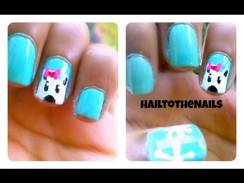 nail tutorial winter polar bear nails youtube. Black Bedroom Furniture Sets. Home Design Ideas