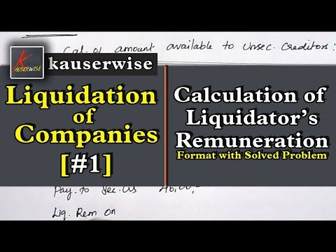 [#1] Liquidation of Companies|[Calculation of liquidator's R