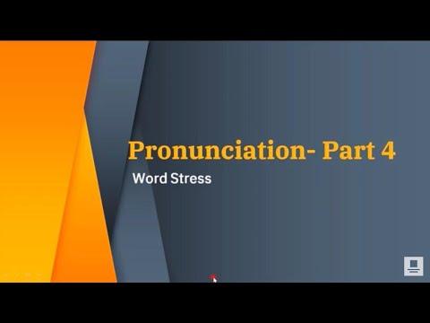 TRANSACTIONS -Pronunciation(Part 4) -Word Stress