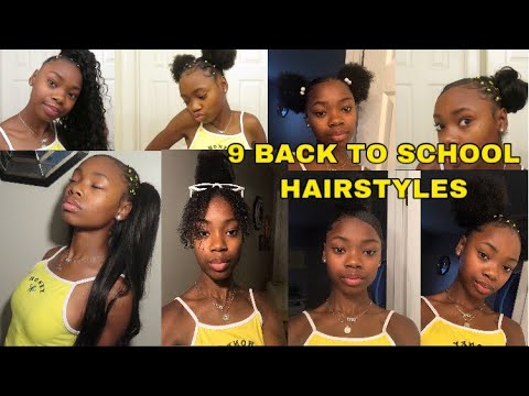 9 CUTE BACK TO SCHOOL HAIRSTYLES ON NATURAL HAIR Ft. Unice Hair