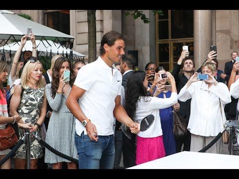 Rafael Nadal plays table tennis at The New York Palace Hotel