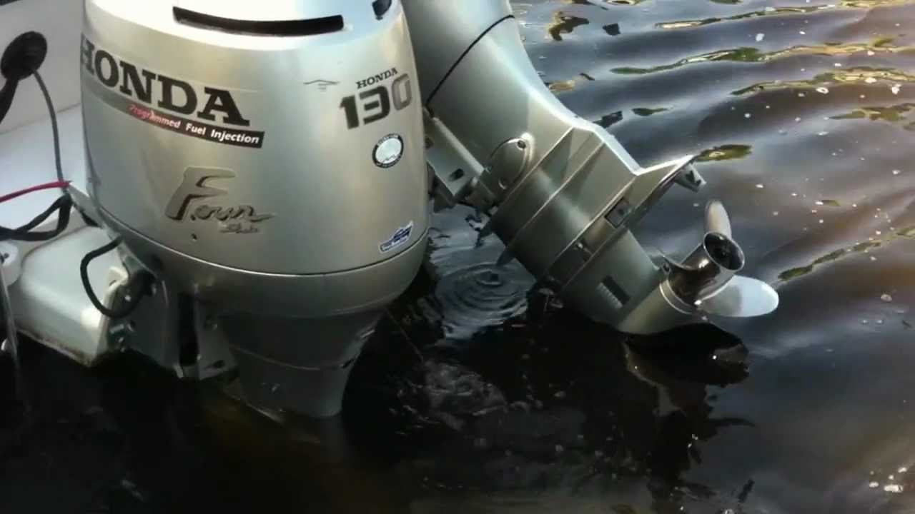 Two HONDA 130HP Outboard Motors by Frank Malone