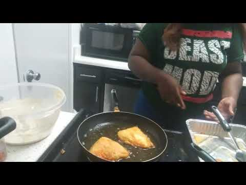 Pancake Battered Fish And Shrimp